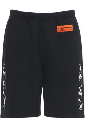 Heron Preston Printed Cotton Jersey Sweat Shorts