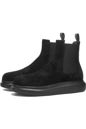 Alexander McQueen Men Chelsea Boots - Suede Chelsea Wedge Sole Boot