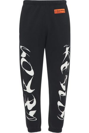 Heron Preston Printed Cotton Jersey Sweatpants
