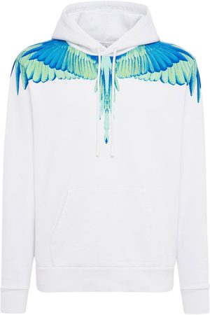 MARCELO BURLON Lvr Exclusive Wings Print Cotton Hoodie