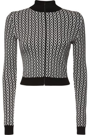 VALENTINO Jacquard Wool Knit Sweatshirt