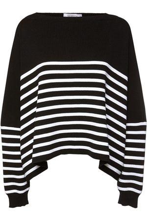 VALENTINO Cotton Knit Striped Sweater