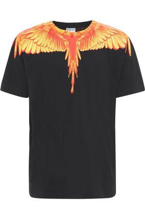MARCELO BURLON Lvr Exclusive Wings Print Cotton T-shirt