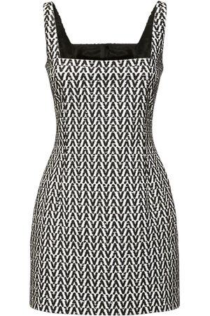 VALENTINO Cotton Boucle Sleeveless Mini Dress