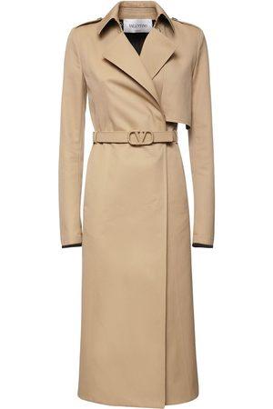 VALENTINO Cotton Gabardine Trench Coat W/belt