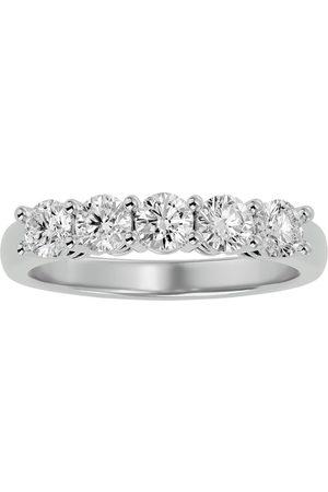 SuperJeweler 1 Carat Five Diamond Prong Set Wedding Band in 14k