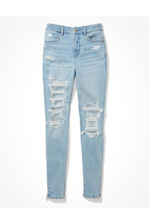 American Eagle Outfitters Next Level Ripped Curvy High-Waisted Jegging Women's 2 Regular