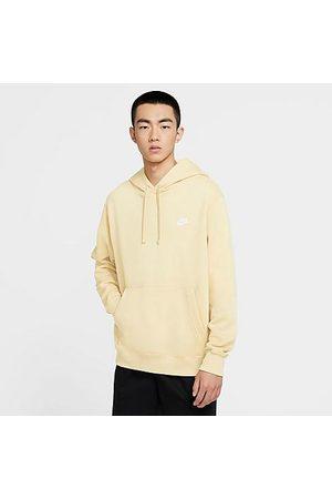 Nike Men Hoodies - Sportswear Club Fleece Embroidered Hoodie in Off- /Coconut Milk Size Small