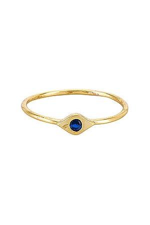 The M Jewelers Women Rings - Mini Evil Eye Gem Stone Ring in Metallic .