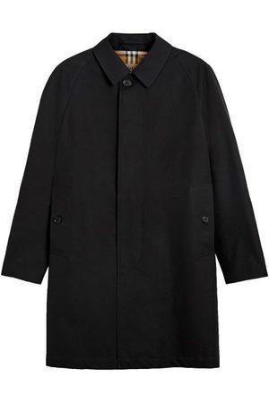 Burberry Men Coats - Camden Check-lining Gabardine Car Coat - Mens
