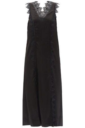 AJE Veil Lace-trimmed Satin Slip Dress - Womens