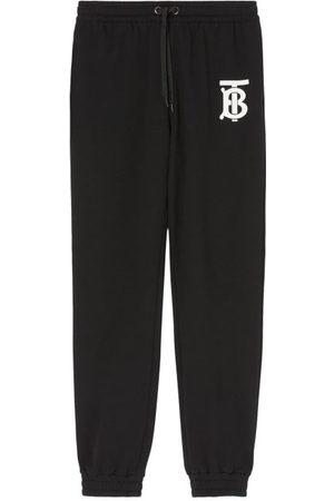 Burberry Men Sweatpants - Tb-print Cotton-jersey Track Pants - Mens