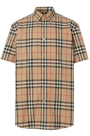 Burberry Men Shirts - Caxton Vintage-check Cotton-poplin Shirt - Mens