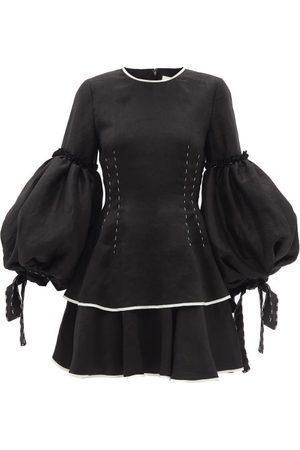 AJE Women Party Dresses - Gracious Balloon-sleeve Linen-blend Mini Dress - Womens