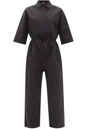 CO Drawstring-waist tton-blend Poplin Jumpsuit - Womens