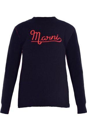 Marni Logo-embroidered Wool Sweater - Womens
