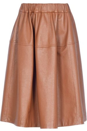 Marni Panelled Leather Skirt - Womens