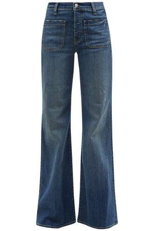 NILI LOTAN Florence High-rise Denim Flared-leg Trousers - Womens - Denim