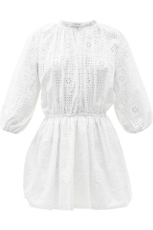 MATTEAU Broderie-anglaise Organic-cotton Mini Dress - Womens