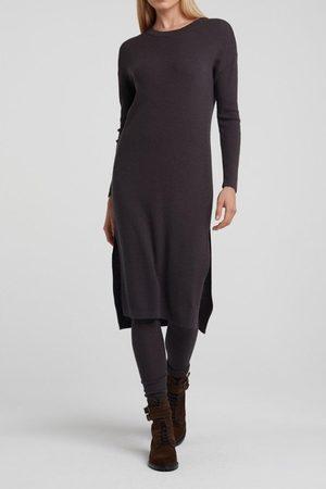 YAYA Wool Blend Sweater Dress with splits