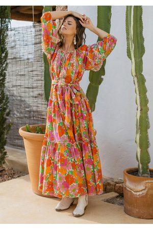 miss june Floralies Dress Neon