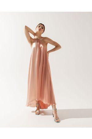 Anna Etter Women Summer Dresses - Two-Tone Summer Peach Gown Edema