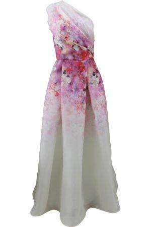 Naeem Khan Women Printed Dresses - Floral One Shoulder Gown
