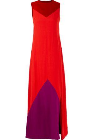 Givenchy Bateau Neck Color Block Gown