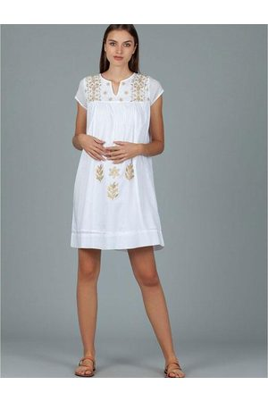 Dream Fashion Women Tunic Dresses - Tunic w Gold Embroidery