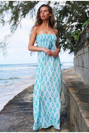 Sophia Alexia Aquarmarine Dream Bandeau Maxi Dress