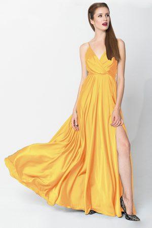 Angelika Jozefczyk Women Evening dresses - Yellow Satin Elegant Evening Gown
