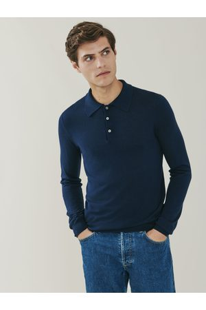MrQuintessential Cascade Silk and Cashmere Blend Polo Shirt - Navy