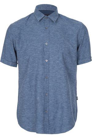 HUGO BOSS Ron5 Short Sleeved Shirt Navy