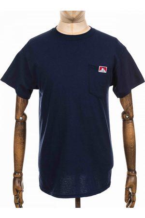 BEN DAVIS Logo Pocket Tee - Navy Colour: Navy