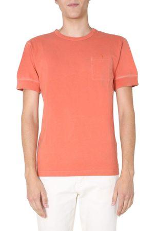 NIGEL CABOURN Men T-shirts - MEN'S NCOSAW20J51VINTAGEORANGE OTHER MATERIALS T-SHIRT