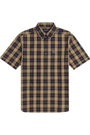 Fred Perry Authentic Short Sleeve Button Down Shirt Navy Check