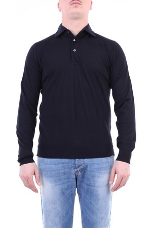 FILIPPO DE LAURENTIIS Polo shirt Long sleeves Men Night