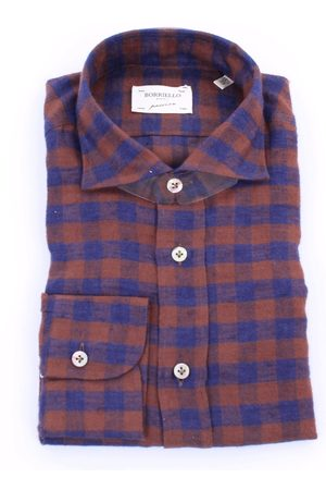 Borriello Men Shirts - BORRIELLO Shirts General Men Brown and