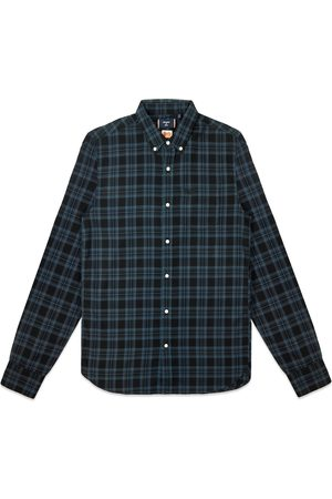 Superdry Classic London Button Down Shirt - Teal Blue Check