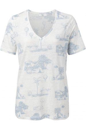 YaYa Linen T-Shirt with Story Print