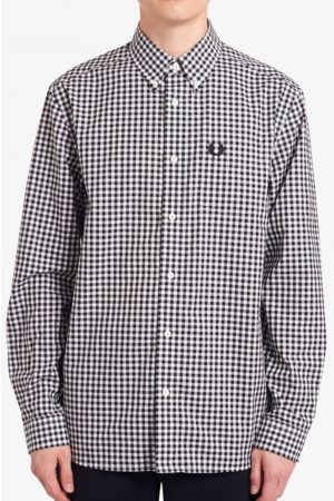 Fred Perry M9500 Gingham Long Sleeve Shirt in
