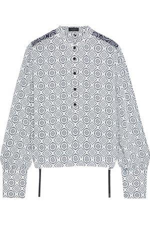 RAG&BONE Women Long sleeves - Woman Tallulah Zip-detailed Printed Crepe De Chine Shirt Size L