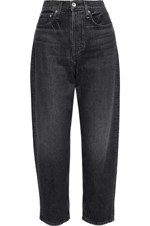 RAG & BONE Women High Waisted - Woman 90s Cropped Distressed High-rise Tapered Jeans Size 26
