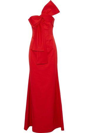 Sachin & Babi Women Evening dresses - Woman Emmeline One-shoulder Bow-embellished Satin-faille Gown Size 8