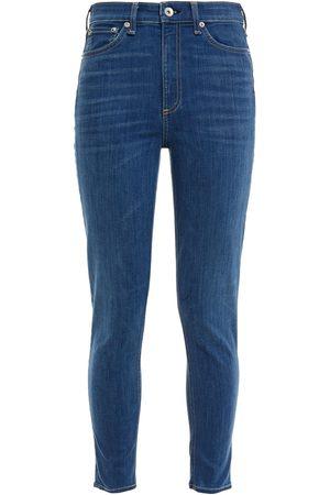 RAG&BONE Women High Waisted - Woman Nina Cropped High-rise Skinny Jeans Mid Denim Size 24