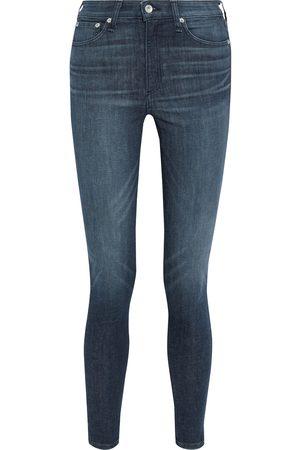 RAG&BONE Women High Waisted - Woman Nina High-rise Skinny Jeans Dark Denim Size 24