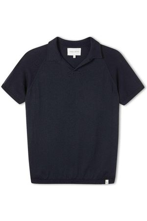 Peregrine Men Polo Shirts - Knitted Emery Polo Navy