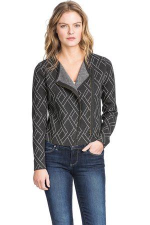 Lilla P Cotton Cashmere Long Sleeve Moto Jacket - Cinder