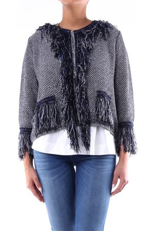 NEERA Two-color laminated cardigan with long sleeves