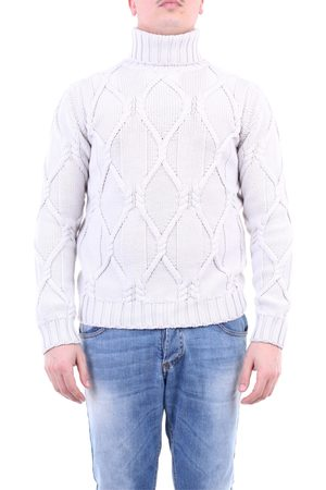 Paolo Pecora Knitwear High Neck Men Plaster